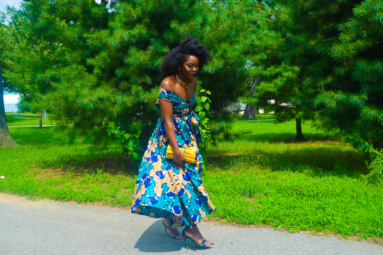 Befitting Style Oyinkan Wearing Ankara Dress Wedding Guest 11