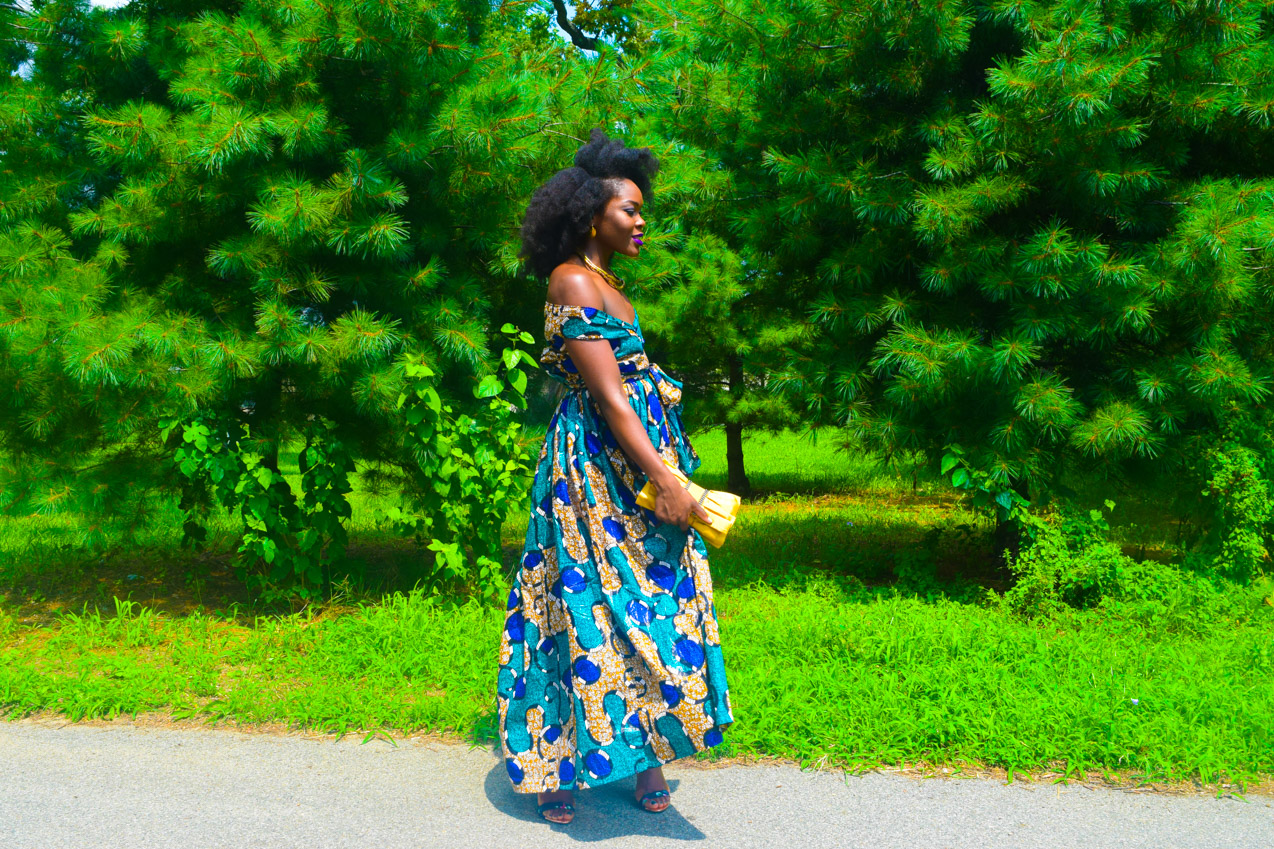 Befitting Style Oyinkan Wearing Ankara Dress Wedding Guest 12