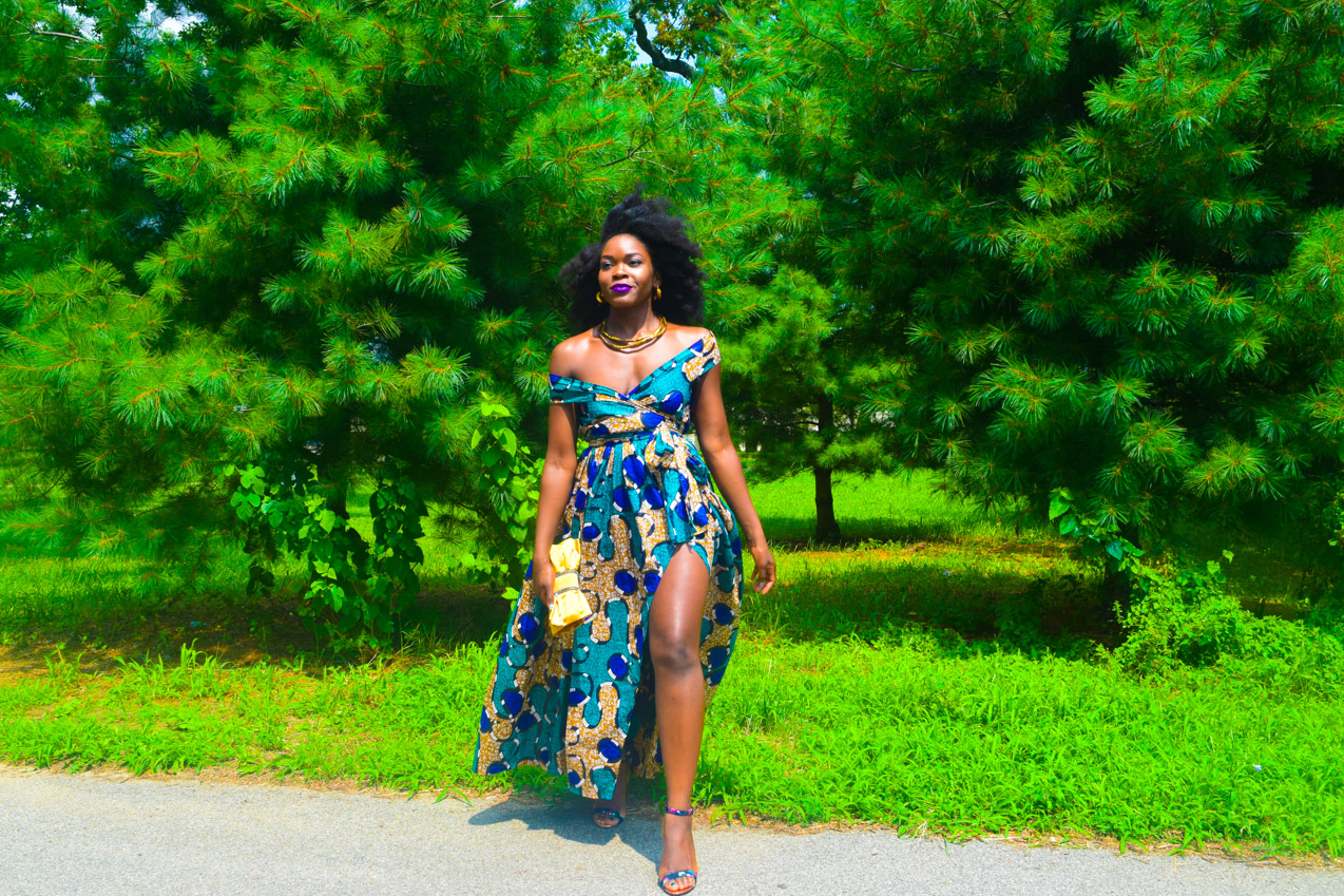Befitting Style Oyinkan Wearing Ankara Dress Wedding Guest 16