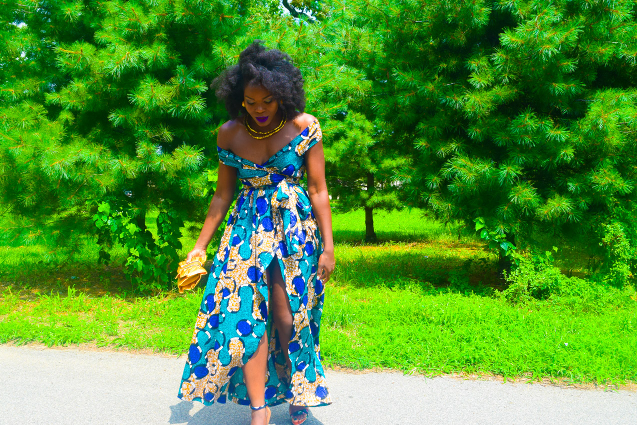 Befitting Style Oyinkan Wearing Ankara Dress Wedding Guest 21