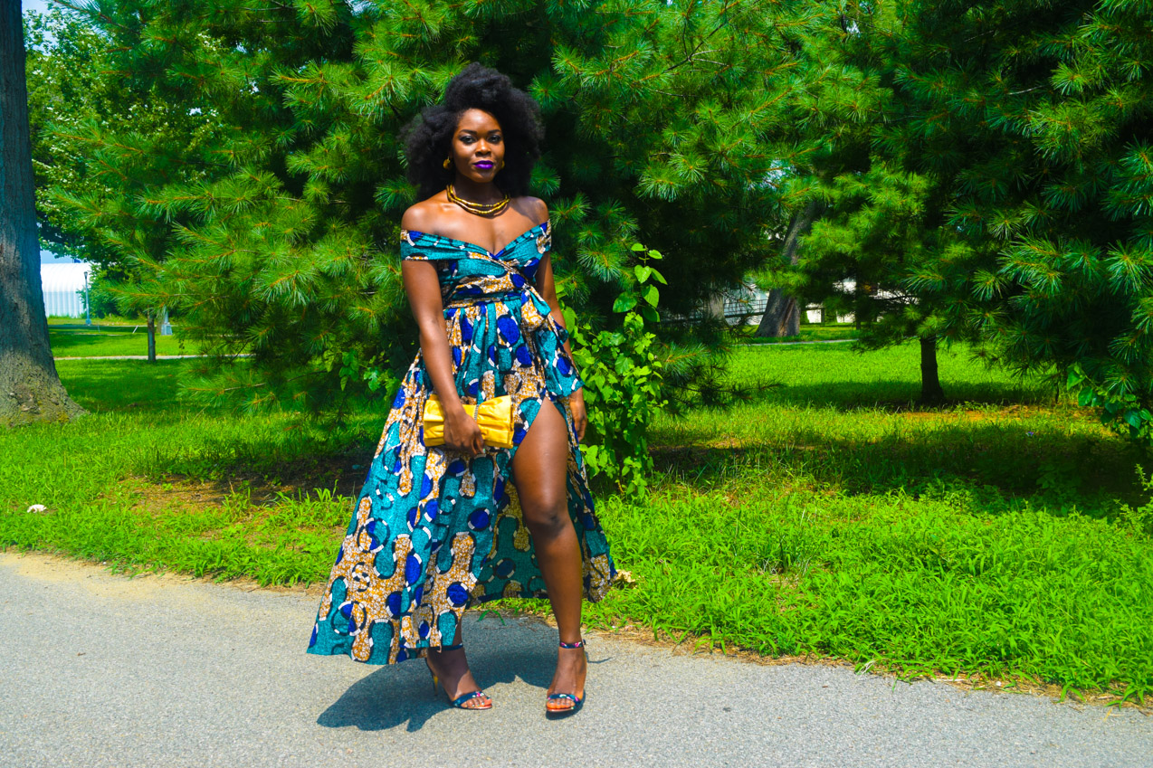 Befitting Style Oyinkan Wearing Ankara Dress Wedding Guest 4
