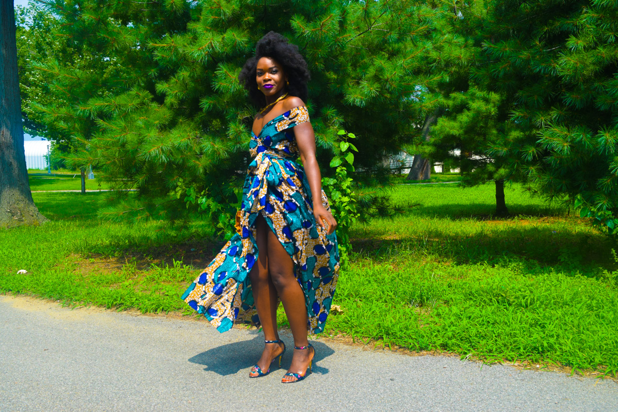 Befitting Style Oyinkan Wearing Ankara Dress Wedding Guest 5