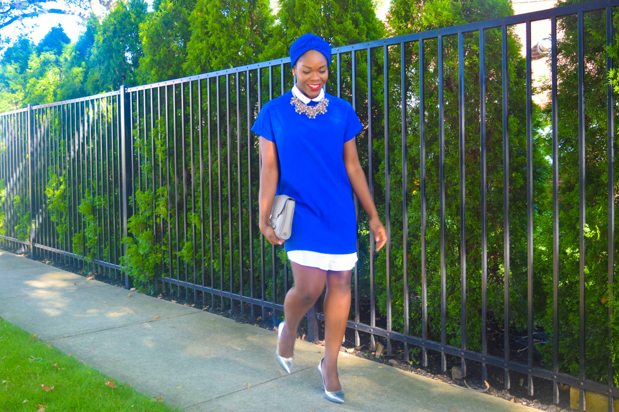 Befitting Style Oyinkan Wearing Turban + Shirtdress 11