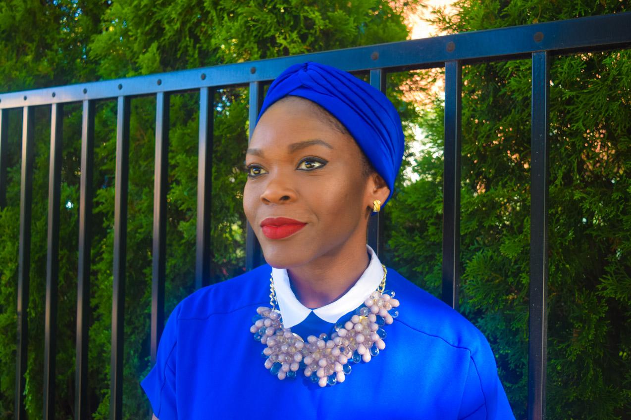 Befitting Style Oyinkan Wearing Turban + Shirtdress 14