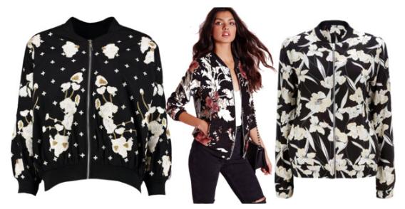 Bomber Jacket Under $75 Black and White Befitting Style