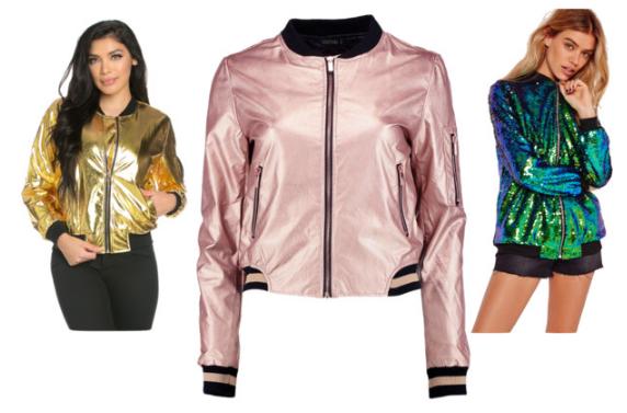 Bomber Jackets Under $75 Cheap Metallic Sequins Befitting Style