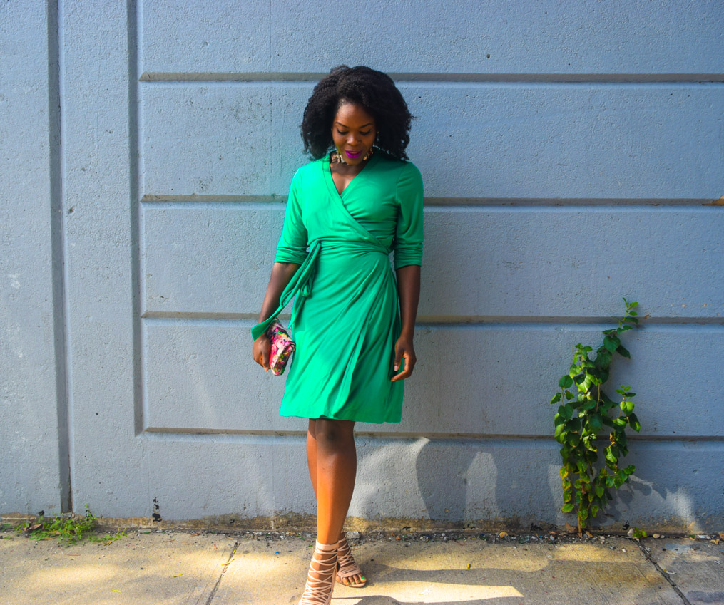 befitting-style-oyinkan-wearing-green-wrap-dress-fall-1