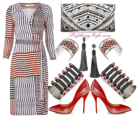 perfect-fall-wrap-dress-look-stripes-1-befitting-style