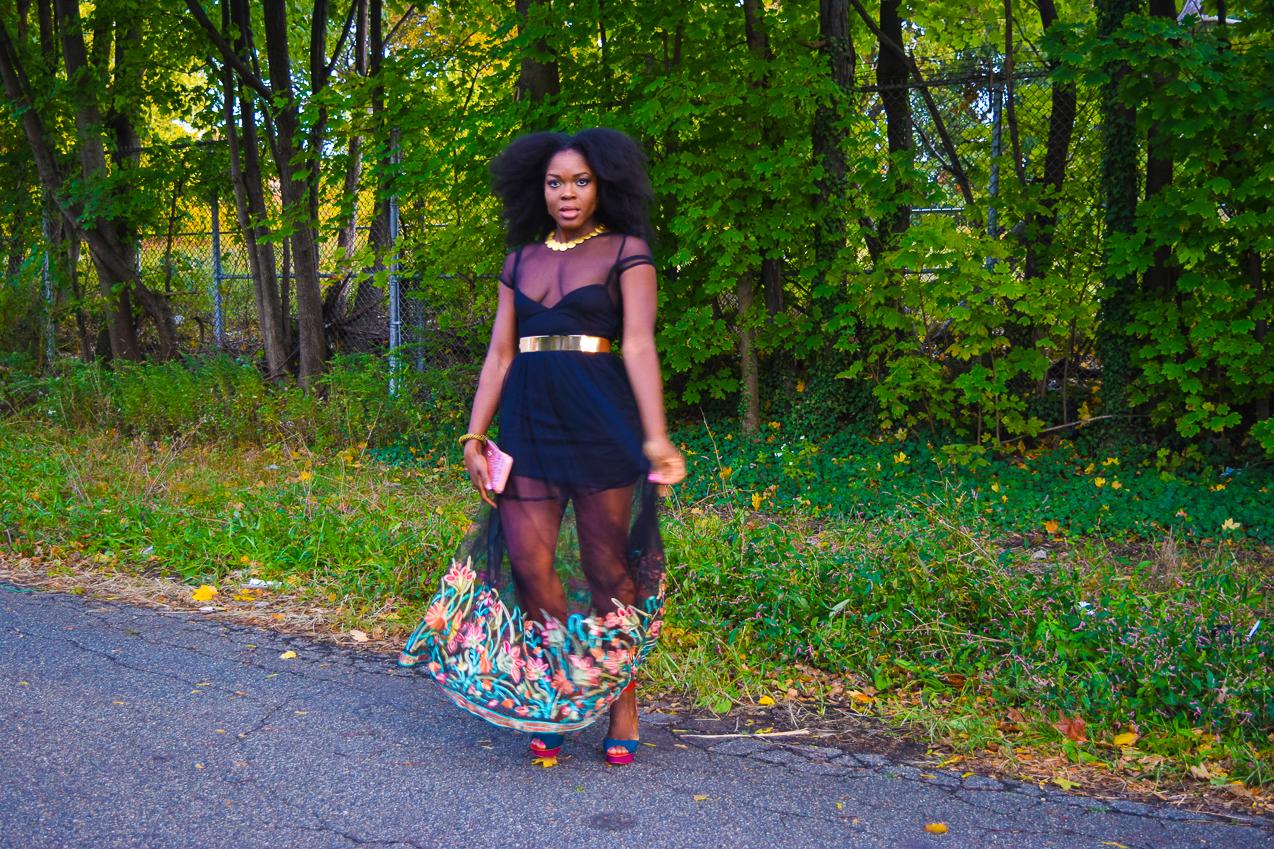 befitting-style-oyinkan-wearing-black-mesh-dress-color-hem-line-3