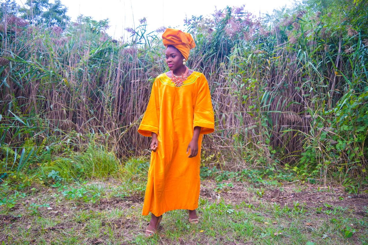 befitting-style-oyinkan-wearing-golden-yellow-kaftan-nigerian-independence-1
