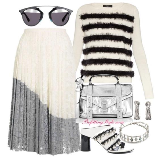 befitting-style-striped-sweater-colorblock-skirt