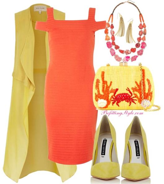 befitting-style-yellow-duster-orange-dress