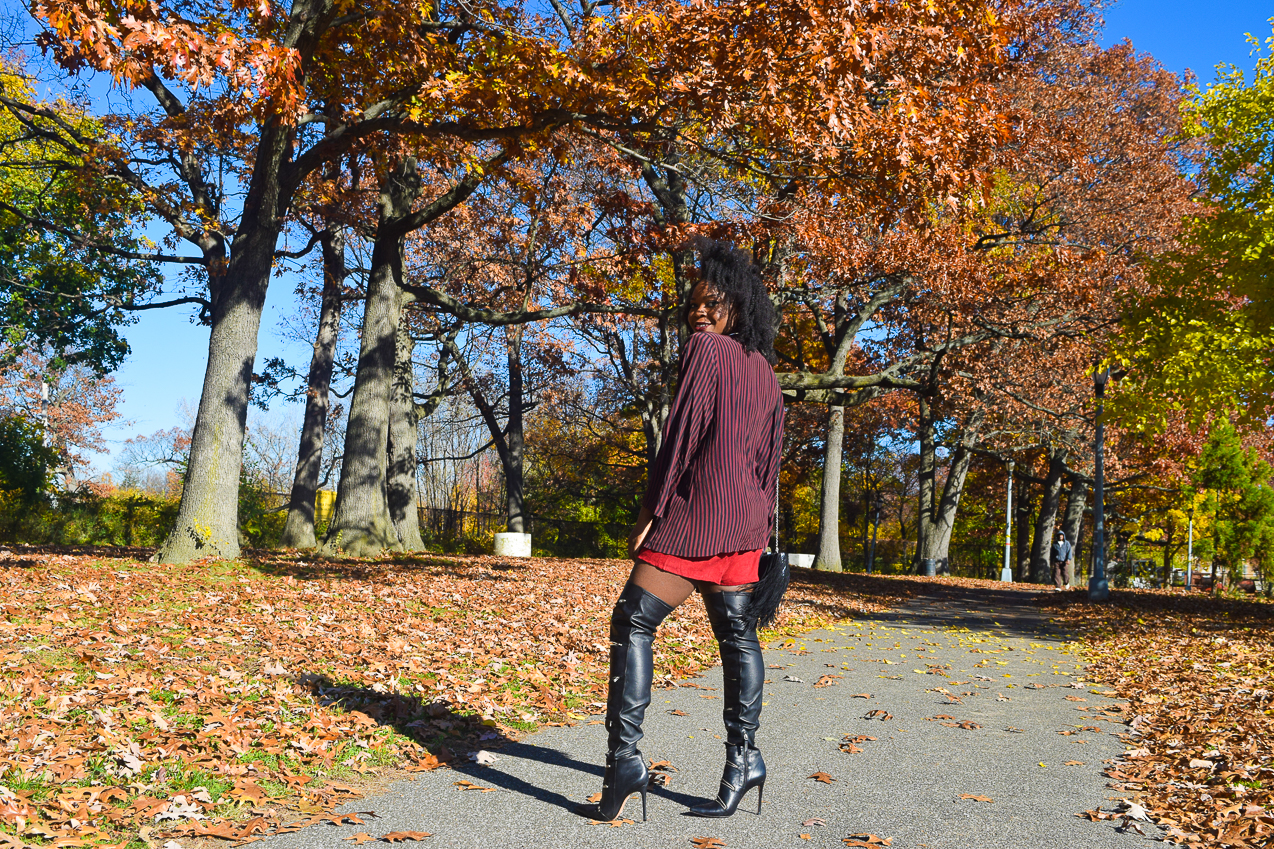 befitting-style-oyinkan-wearing-pumpkin-bodysuit-burgundy-duster-thigh-high-boots-6