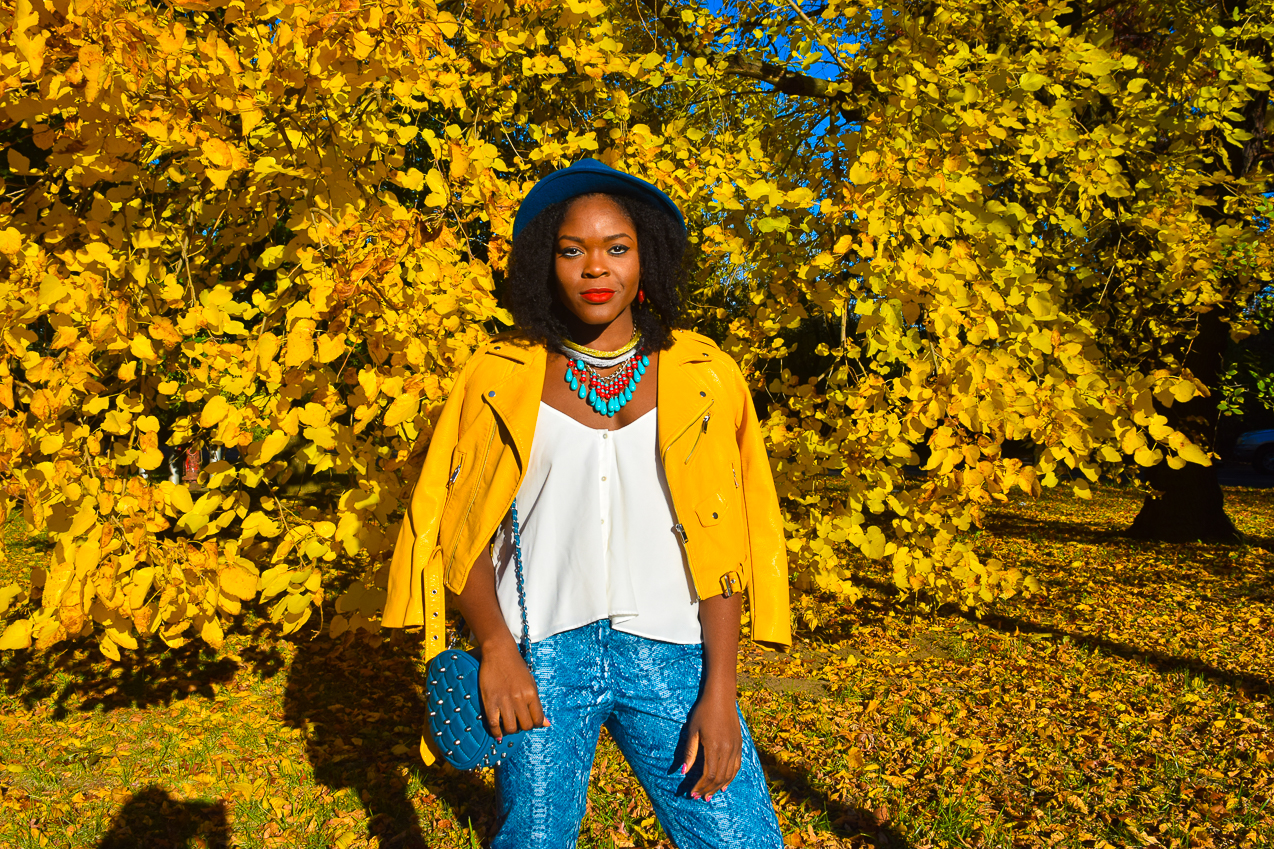befitting-style-oyinkan-wearing-yellow-leather-jacket-blue-pants-13
