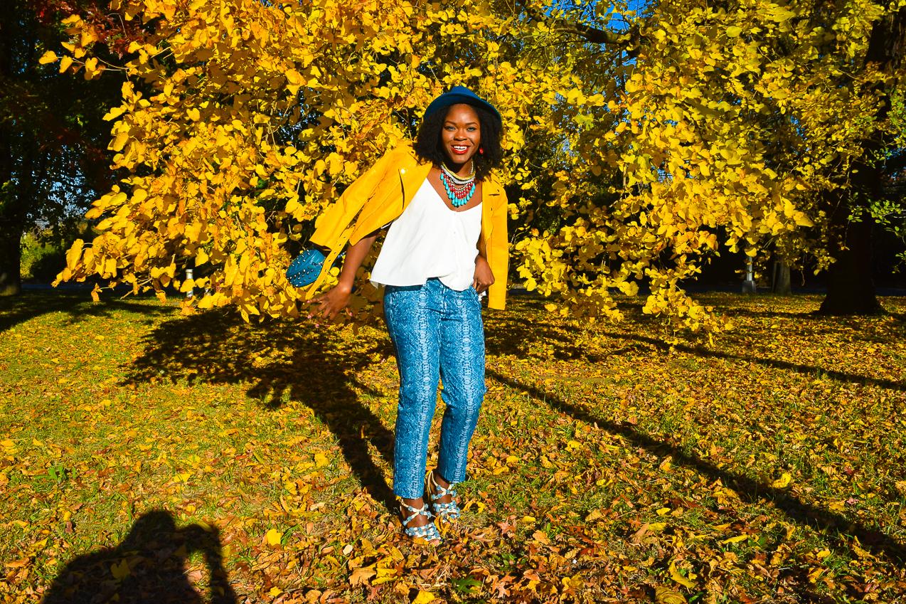 befitting-style-oyinkan-wearing-yellow-leather-jacket-blue-pants-3