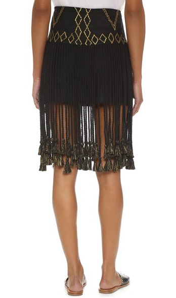 gypset-fringe skirt-black-2-befitting-pick