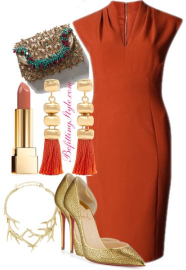holiday-party-look-burnt-orange-befitting-style