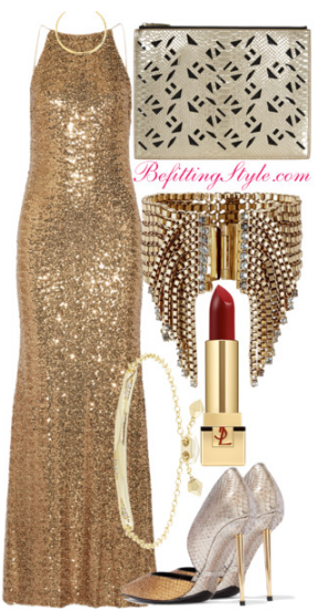 holiday-party-looks-golden-gown-gold-befitting-style