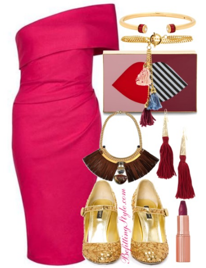 holiday-party-looks-pink-burgundy-befitting-style
