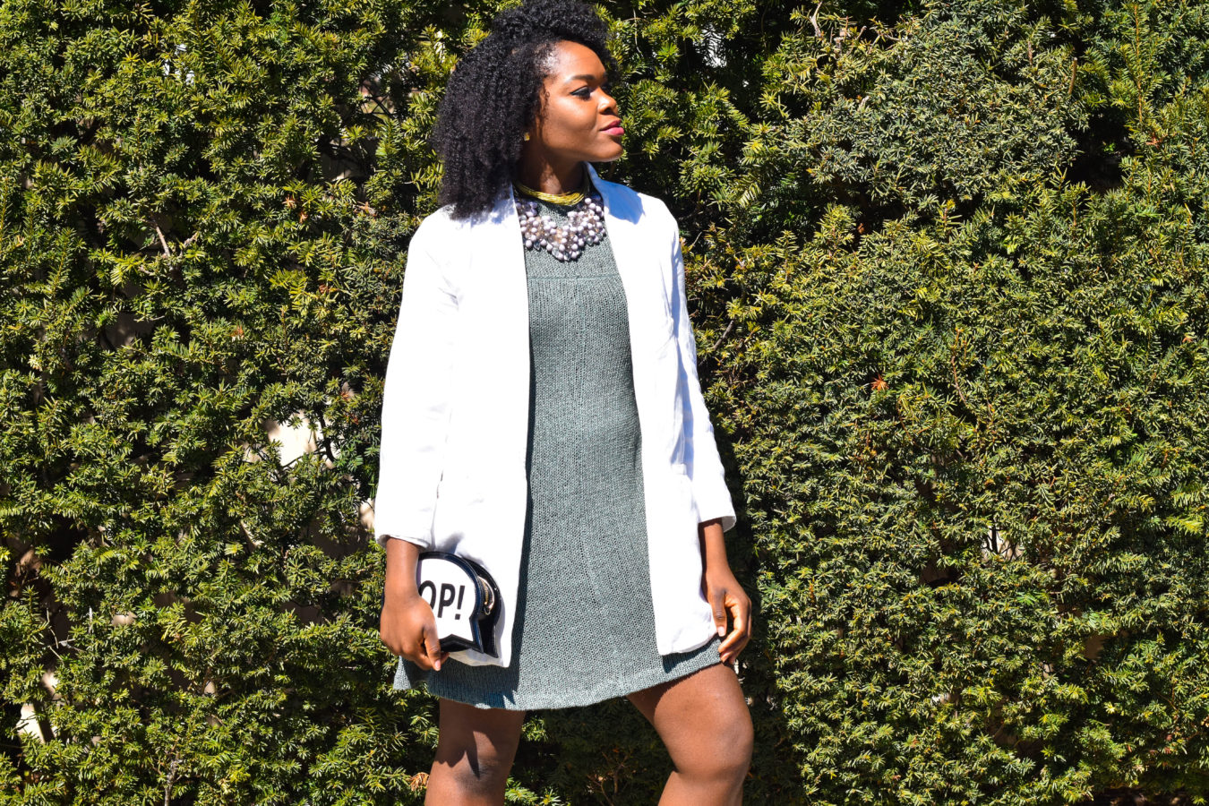 Neutral Spring Look Sweater Dress 3