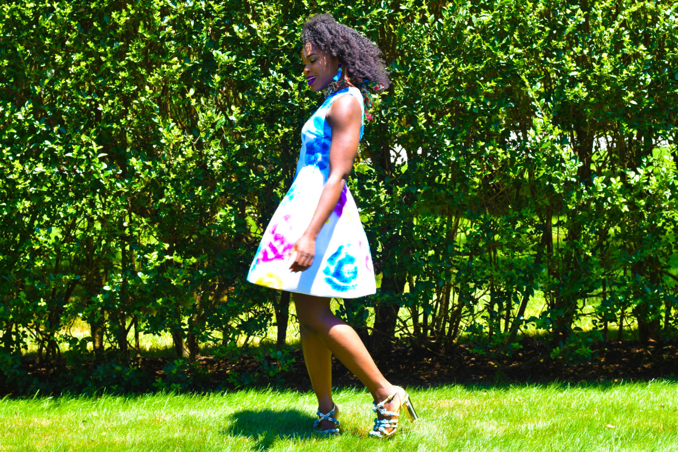 Befitting Style Multi Colored Frock | Brunch With FitBox