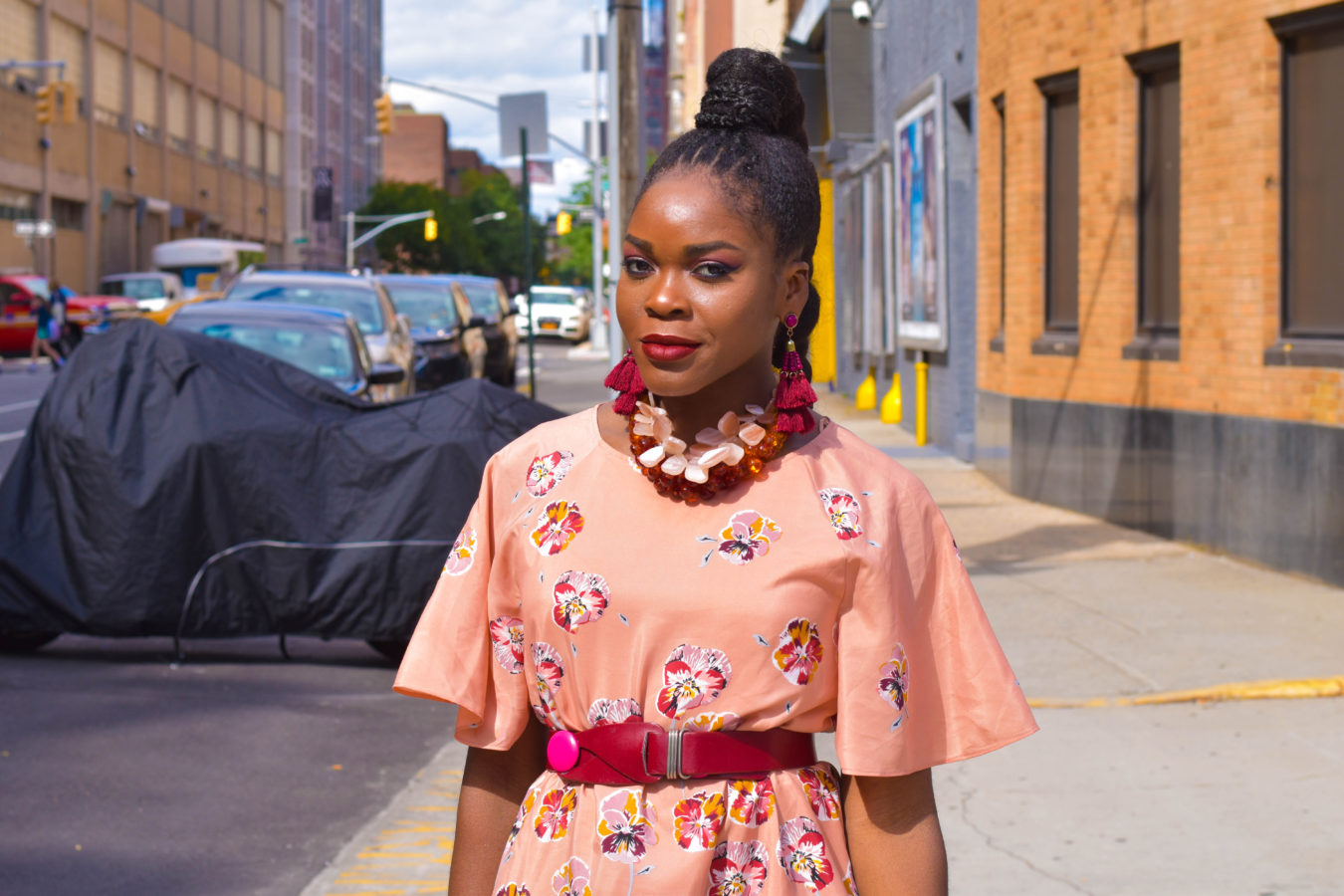 Befitting Style Peachy Floral Contrast | NYFW SS18 Day 4