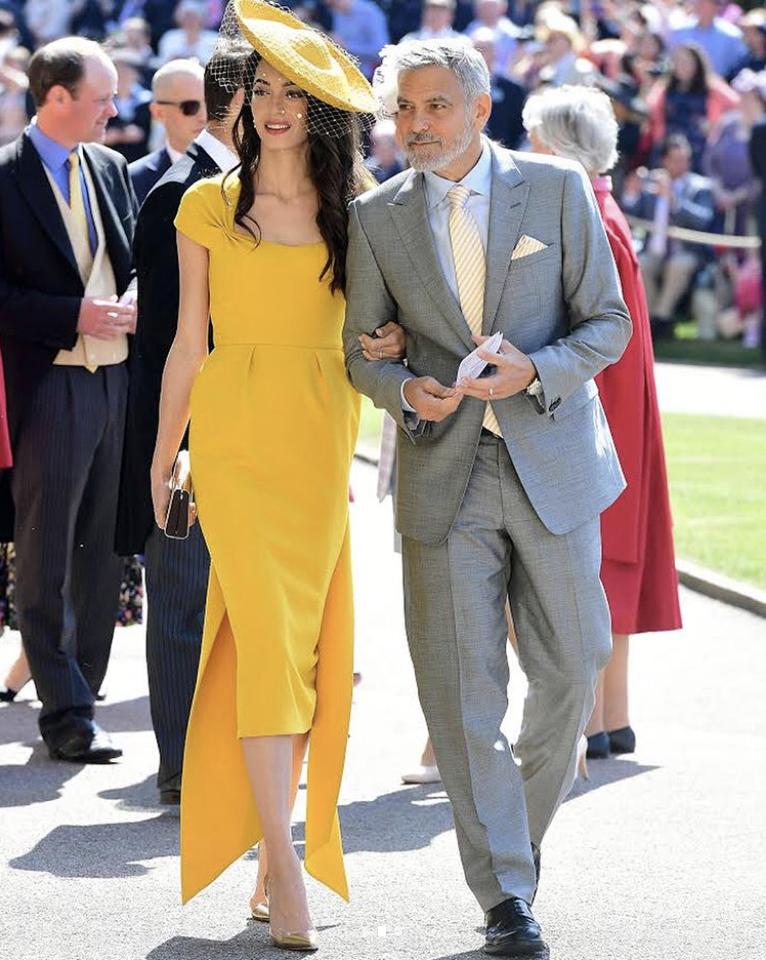 Amal Clooney - Stella McCartney - Head Dress Stephen Jones Millinery